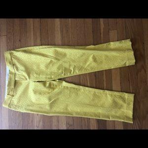 Banana republic yellow slacks